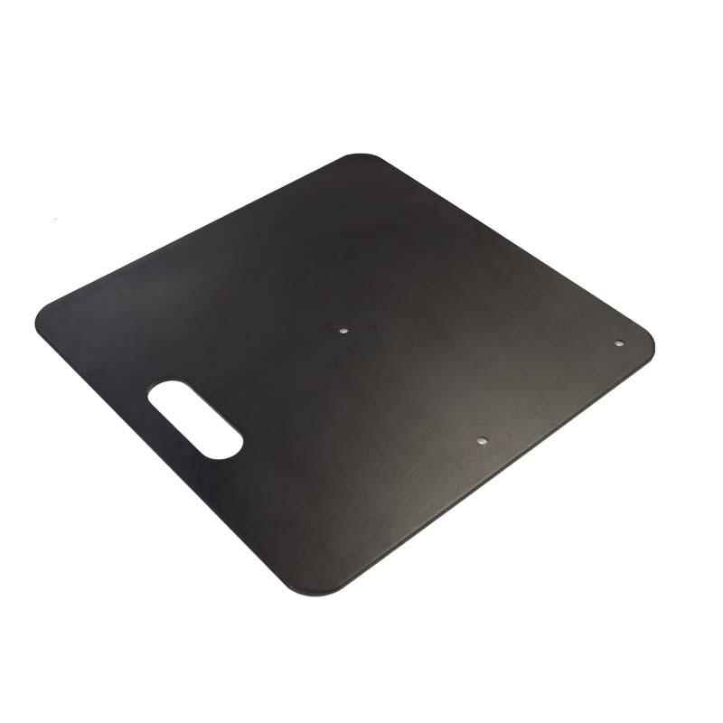 "18"" x 18"" Base Plate Black 12.5KG Heavy Duty Image"