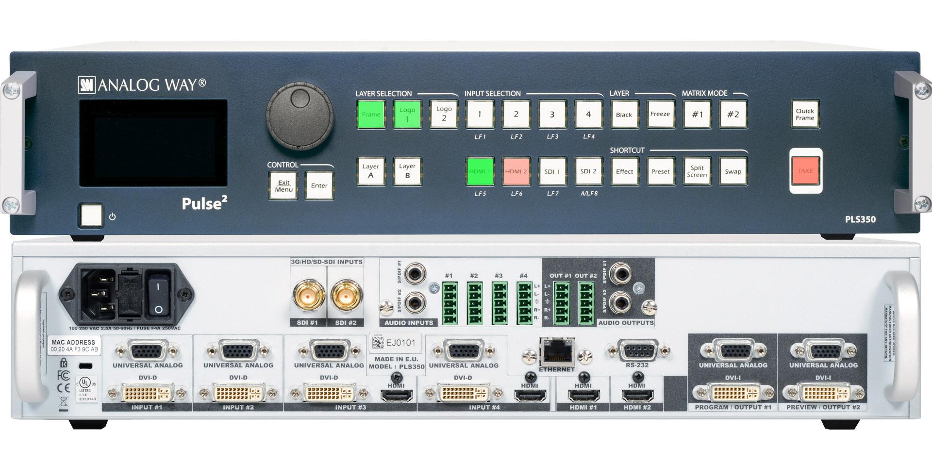 Analogway PLS350 Pulse 2 Switcher Image